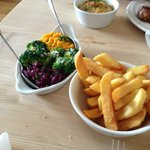 exceptional chips, veggies and dauphinois