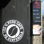 Guatemala coffee at La Parada - the best!