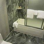 Basic bathroom suite. Tidy.