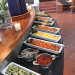 Side dishes on cold table