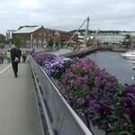 A short walk brings you to revamped port area with shopping malls and bars