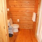 deluxe cabin bathroom