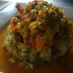 Shrimp stuffed Mofongo