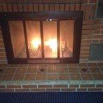 the romantic fireplace.