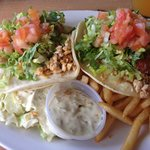 Cajun grilled fish tacos