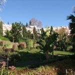L'Hôtel et son parc au mois de Janvier...