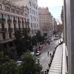 View from bedroom towards Placa Catalunya