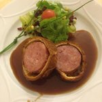 Sausage in pastry roll.