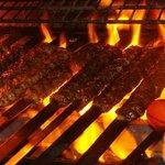 All fire grill Kabob