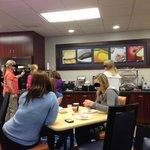 Breakfast area - very crowded.