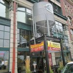 Our grain silo sitting over the front entrance.
