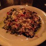 vegetarian dish with rice pasta.  Tasty.