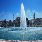 Fountains between Blue Mosque and Hagia SOphia