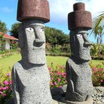 Stone Statues of the Pool of Hotel Puku Vai