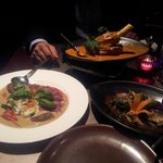 Aberdeen Angus Beef with Basil Sauce, Lamb Shank Curry & Seasonal Aubergines