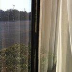Black tape holding window closed