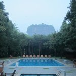 View of Lion's Rock from the hotel pool