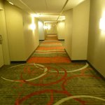 Smokey smelling hallway. Cool carpet.