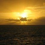 le lever du soleil a tout les matin sur notre balcon
