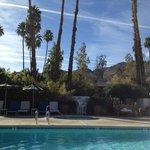 San Jacinto mountains from pool