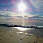 A peaceful beach day after school break
