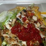 Chicken Fajita Salad.... this was my to go plate and it was just as good as wh
