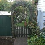 Rose arbour entrance to the garden