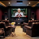 First class theater room