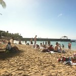 Waikiki Beach right in front of hotel
