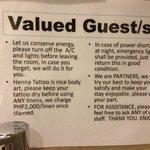Hotel reminders