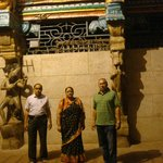 In front of the temple