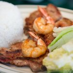 Grilled Pork Chop and Shrimp Rice