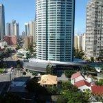 Utsikt fr balkongen mot centrum