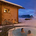 Outdoor whirlpool and sauna