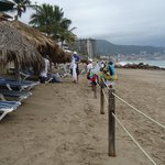 Beach area for resort is ample, access to extensive beach for walking, lovely