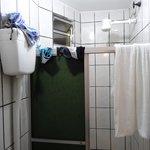 salle de  bains et séchoir en même temps