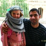 with a local at El Djem