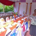 Mrs Patrick and wedding table