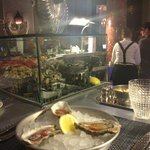 Champagne and oysters at The Grand