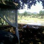 Outside room overlooking the waterhole