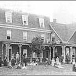 Early visitors to Shaw's Hotel, 150 years ago.