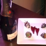 Chocolate Covered-Strawberries w/Champagne - Romance Package