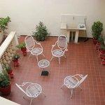 Outdoor courtyard area