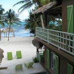 Caye Casa view of the beach