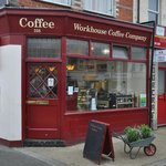 Workhouse Coffee on the corner of Oxford and Edinburgh Roads in Reading
