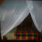 Comfy bed with great mosquito nets