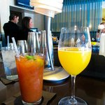 Sunday brunch Bloody Mary and Mimosa