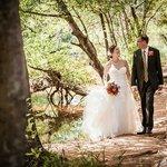 Creekside Wedding Couple