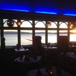 The wonderful sunset view in Ruby restaurant helensburgh