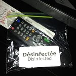 so the remote was disinfected... what about the bag???